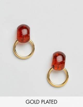 Gogo Philip hoop earrings in gold tort