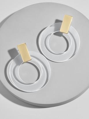 BaubleBar Marisela Resin Hoop Earrings
