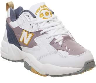 New Balance 608 Trainers Vintage Indigo Cashmere Gold Dust