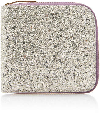Victoria Beckham Glittered Cotton-Canvas Wallet