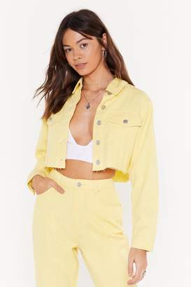 Nasty Gal We Can't Be Cropped Denim Jacket