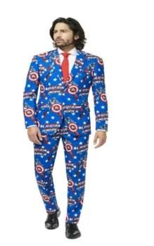 Opposuits OppoSuits Men's Captain America Licensed Suit