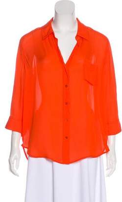 L'Agence Button-Up Long Sleeve Blouse