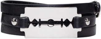 McQ Alexander Mcqueen Black Razor Wrap Bracelet $65 thestylecure.com