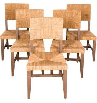 Set of 5 Contemporary-Style Rush Dining Chairs