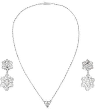 Buccellati 18-karat White Gold Diamond Earring And Necklace Set - one size