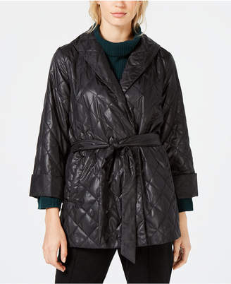 Eileen Fisher Organic Cotton Quilted Shawl-Collar Jacket, Created for Macy's