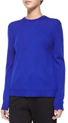 McQ Crewneck Sweater Top W/ Printed Back