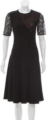 Jason Wu Short Sleeve Midi Dress
