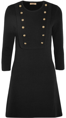 Burberry - Silk-blend Jersey Mini Dress - Black $810 thestylecure.com