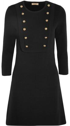 Burberry - Silk-blend Jersey Mini Dress - Black $810 thestylecure.com