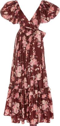 LoveShackFancy Ida Floral Puff Sleeve Dress