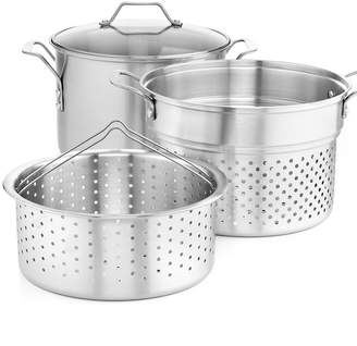 Calphalon Simply Stainless Steel 8 Qt. Covered Multi-Pot with Strainer & Steamer Inserts