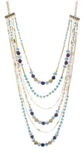 Catherine Malandrino Women's Beaded Layered Chain Necklace
