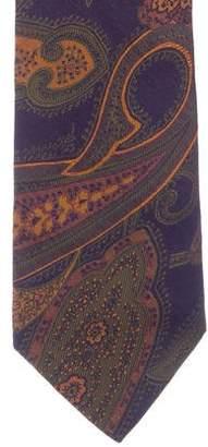 Etro Floral Jacquard Silk Tie