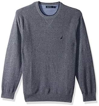 Nautica Men's Long Sleeve Crew Neck Sweater