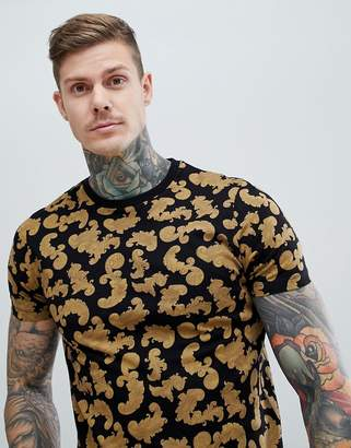 Asos DESIGN t-shirt with all over baroque print