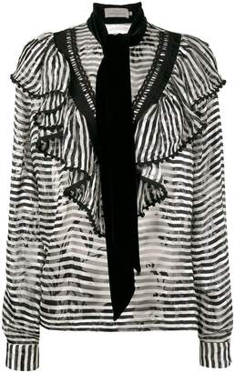 Preen By Thornton Bregazzi Woman Conix Asymmetric Striped Crepe Top Black Size L Preen Great Deals Sale Online Free Shipping From China esPUYQYoI