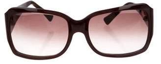 Oscar de la Renta Gradient Embellished Sunglasses
