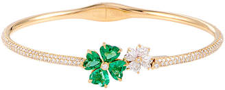 Chopard Heritage  18K Yellow Gold Diamond & Emerald Bracelet