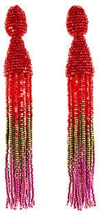 Ombre Crystal Tassel Earrings