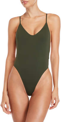 KENDALL + KYLIE Dropped Back One-Piece Swimsuit