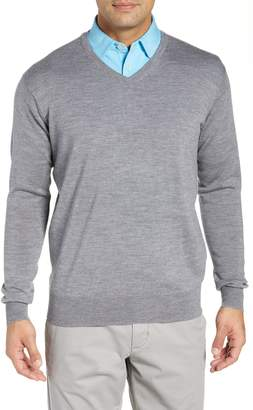 Peter Millar Crown Wool & Silk V-Neck Sweater