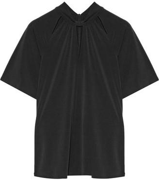 MICHAEL Michael Kors - Cutout Stretch-jersey Top - Black $70 thestylecure.com