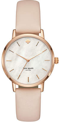 Kate Spade Metro vachetta leather hybrid watch