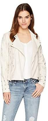 Lysse Women's Jamie Embroidered Vegan Leather Jacket