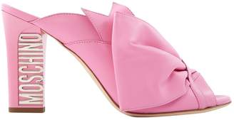 Moschino Pink Leather Heels