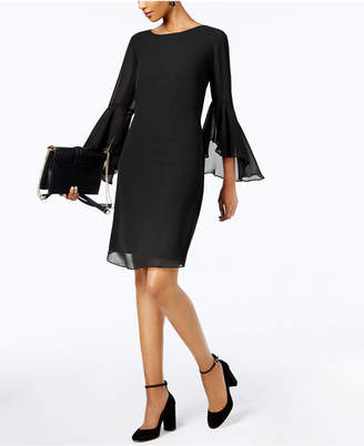 INC International Concepts I.n.c. Bell-Sleeve Dress, Created for Macy's