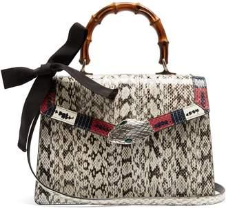 Gucci Lilith medium bamboo-handle snakeskin bag