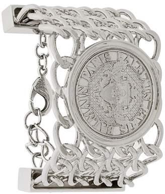 Balmain embossed coin bracelet
