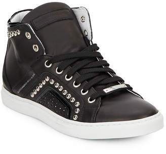 Alessandro Dell'Acqua Alessandro Dell''acqua Studded High-Top Leather Sneaker