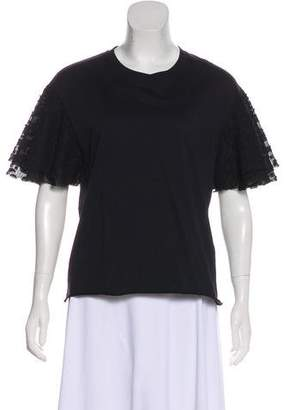 See by Chloe Tier-Accented Short Sleeve Top