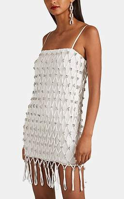 Area Women's Crystal-Net Georgette Slipdress - White
