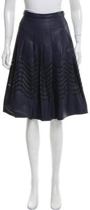 Halston Eyelet Knee-Length Skirt