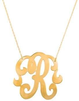 Jennifer Zeuner Jewelry Emily Large Swirly Initial R Pendant Necklace