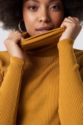 NA-KD Na Kd V Detailed High Neck Sweater Black