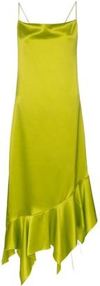 Marques Almeida Marques'Almeida asymmetric hem silk dress