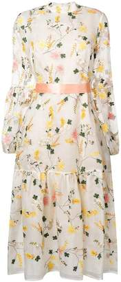Erdem floral embroidered midi dress