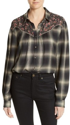 Women's The Kooples James Floral Print Western Shirt $245 thestylecure.com