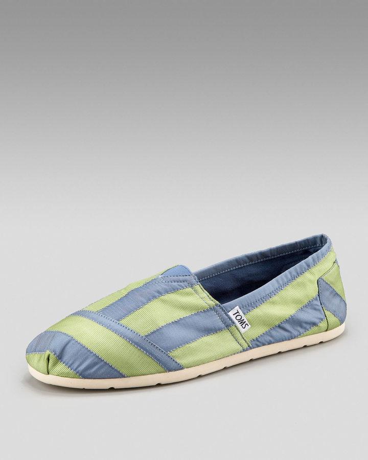 TOMS Striped Slip-On, Green