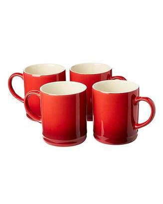 Fashion World Graduated Tankard Mugs Pack of 4 Red