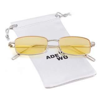 56376338847 clear ADEWU Vintage Steampunk Sunglasses Fashion Metal Frame Lens Shades  for Women