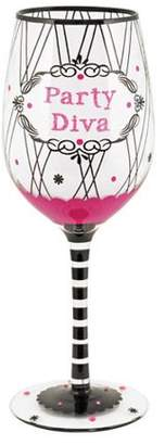 True Fabrications True Fabriction Party Diva Hand Paint Wine Glass