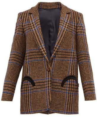 BLAZÉ MILANO Cariba Single Breasted Wool Blend Tweed Blazer - Womens - Brown Multi