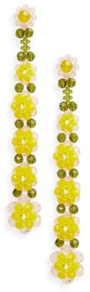 Women's Simone Rocha Tiered Crystal Shoulder Duster Earrings $640 thestylecure.com