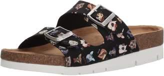 Skechers BOBS from Women's Posh Pups Double Strap w Memory Foam Slide Sandal